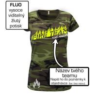 02cde5cd6489 ... Fire team - oheň - Váš názov - Dámske maskáčové tričko